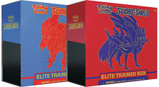 Pokemon Sword y Shield Elite entrenador cajas Conjunto de 2 Sellado