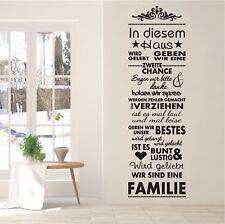 WANDTATTOO Wandaufkleber Banner Wir sind eine Familie Wohnzimmer Flur 798