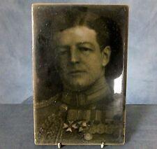 RARE Lg FRAMED WWI. TILE PLAQUE by J.H. BARRATT & Co. - ADMIRAL Sir DAVID BEATTY