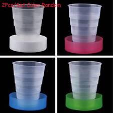 2 Pcs/set Portable Plastic Retractable Folding Cup Telescopic Collapsible Travel