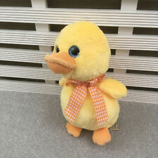 "Keel Toys Yellow Duck Chick Soft Toy 8"" Orange Gingham Neck Ribbon"