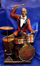 LARGE 27cm TALL JAZZ BAND DRUMMER SCULPTURE Drums Music Drum Kit (Red Jacket)
