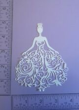16 Bride - Filigree style - Cardstock Die Cuts - Card Toppers - Embellishments
