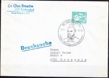 Germany used Cover, Emile Javal Ophthalmologist Medicine, Pictorial Cancellation