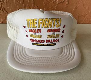 Vintage Marvelous Marven Hagler vs John Mugabi Boxing Fight SnapBack Hat