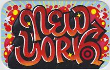 Target New York NYC Graffiti Red Black Artwork 2019 Gift Card 790-01-2642