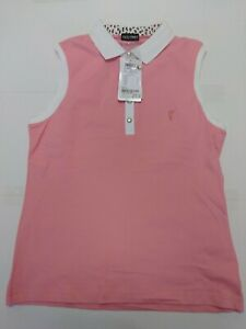 1 NWT GOLFINO WOMEN'S SHIRT, SIZE: X-LARGE, COLOR: PINK/WHITE (P8)