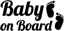 Baby On Board Window Vinyl Decal Sticker (Any Color?
