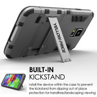 Bulit In Kickstand Hard Shell Armor PC+TPU Case Cover For Samsung GALAXY S5