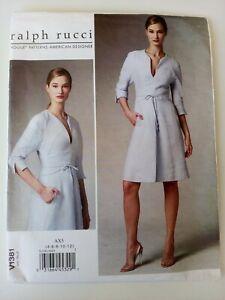 VOGUE V1381 SEWING PATTERN - RALPH RUCCI - dress - NEW