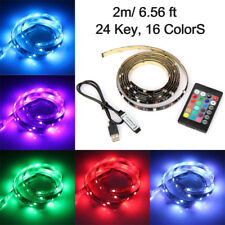 6ft USB RGB 5050 LED Strip Lighting for Bar TV Computer Background Lights Color