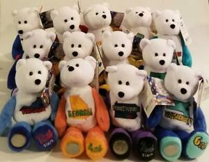New Limited Treasures Collectible 13 State Quarter Coin Teddy Bears w/ Coins !!!