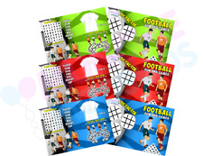 Pack of 12 - Football Fun and Games Activity Sheets - Party Bag Books Fillers