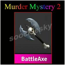 Roblox MM2 BattleAxe Knife Murder Mystery 2 Schusswaffe Godly Virtual Battle Axe