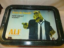 "Vtg 1987 ALF ""Let's Do Lunch! How About Yours?"" Folding TV Snack Tray-Alien Prod"