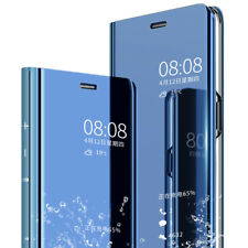 For Huawei Mate20 Lite Pro Clear View Case Smart Flip Leather Mirror Stand Cover