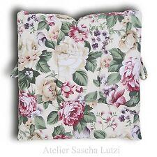 Clayre & Eef Sitzkissen Stuhlkissen Kissen 42cm x 42cm Shabby Romantisch Blumen