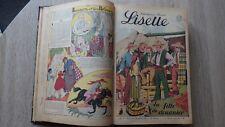 ALBUM RELIE LISETTE ANNEE 1941 (Nr 1 à 48)  Patrons Poupées BD