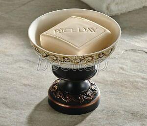 Black Oil Rubbed Bronze Bathroom Accessory Ceramic Soap Dish Holder sba473