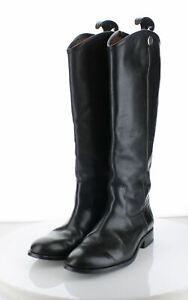 36-56 $348 Women's Sz 7.5 B Frye Melissa Button 2 Leather Riding - Black