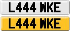 LUKE NUMBER PLATE PRIVATE:LUKE LUK LUCAS LEWIS LUS LOOK LUCK LUCKY -REG L444 WKE