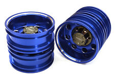 ALL TAMIYA 1/14 TRACTOR TRAILER REAR WHEEL 12MM HEX INTEGY C27023BLUE