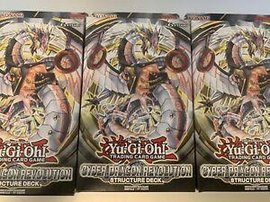 X3 Yugioh Cyber Dragon Revolution Structure Deck |BRAND NEW SEALED Yu-Gi-Oh! TCG