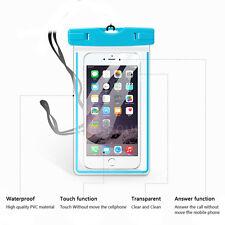 2017 Luminous Glow Underwater Waterproof Pouch Bag Case +Neck Strap For Phones