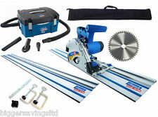 Scheppach PL55 Plunge Saw & HD2P Extractor Package - 1.4m rails + 48z blade