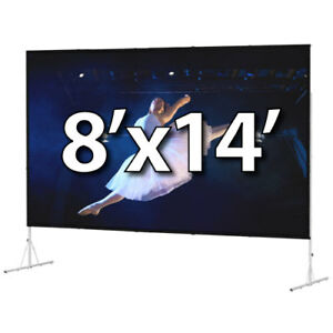 DA-LITE 39310 - FAST-FOLD DELUXE 8'x14' COMPLETE KIT - FRONT PROJECTION - T-LEGS