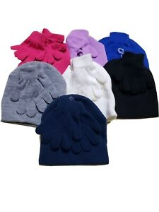 WONDER NATION Kid's Knit Beanie Hat & Glove Combo ages 2+ Assorted Colors
