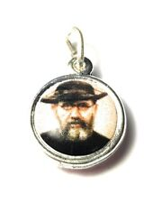 Father Damien of Molokai crystal relic medal patron of people with leprosy