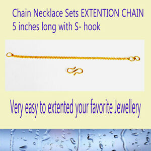 18ct Gold Extension Safety Necklace/Bracelet/ Chain Extender GOLD PLATED 5 inch