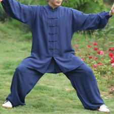 Shaolin Monk Wudang Taoist Kung Fu Robe Tai Chi Uniform Wushu Martial Arts Suits Blue 170