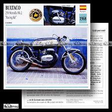 #070.20 BULTACO 250 METRALLA MK2 'RACING KIT' 1968 Fiche Moto Motorcycle Card