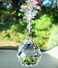 "BIG RAINBOW MAKER Crystal Ball SunCatcher mw Swarovski ""Lily"" Octagons & Bicones"