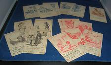 Wonderful Lot of 16 Victorian Coffee Tea Trade Cards Utica NY
