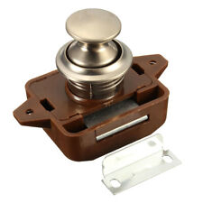 Push Button Catch Lock Cupboard Door Motorhome Cabinet Camper Van Latch Knob