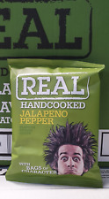 Real Crisps Hand Cooked Jalapeno Pepper Flavour 24 x 35g 28.11.2020