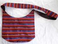 FAIR TRADE BOHO HIPPY ETHNIC FESTIVAL RAINBOW COTTON & SILK SHOULDER BAG