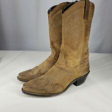 Ariat 8.5 B Suede Pointed Toed Calf High Cowboy Western Womens Distressed Boots