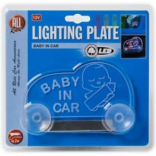 12v Light LED Baby On Board Child Window Bumper Car Sign Decal Sticker Sale