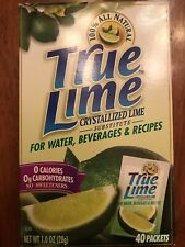 True Lime Crystallized Lime Substitute For Water Beverages & Recipe Exp 11/11/07
