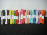 JOB LOT 20 yards 10mm GROSGRAIN RIBBON New 20 x 1y Assorted Colours 1cm BARGAIN