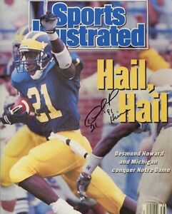 Desmond Howard Michigan signed 8x10 photo auto Sports Illustrated cover NOT PSA