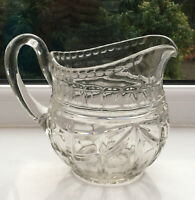 Vintage Cut Glass Large Jug 16 Cm. Juice Jug. Pitcher