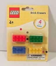 LEGO Brick Erasers 4 Pack Multi Color SCHOOL SUPPLIES NIP Party Stocking Stuffer