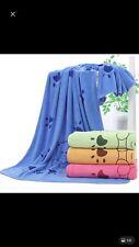 More details for super absorbent microfibre pet dog cat towel quick drying blanket large.