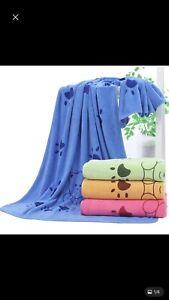 Super Absorbent Microfibre Pet Dog Cat Towel Quick Drying Blanket Large.