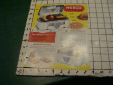 Mid Century Modern -- 1953 NESCO electric ROASTER OVENS + price sheet